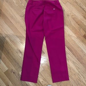 White House Black Market Pants - NWOT WHBM Pink Slim Ankle Side Zip Pant 4R